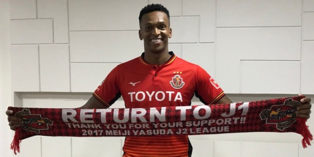 Jô assinou com o Nagoya Grampus até o final de 2020