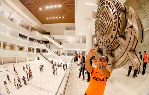 Átrio do prédio Oeste da Arena Corinthians será o local do Museu do Torcedor