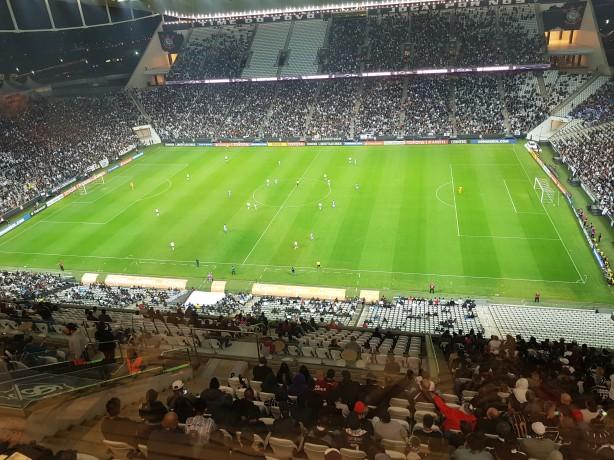 Antigo visual do gramado da Arena Corinthians