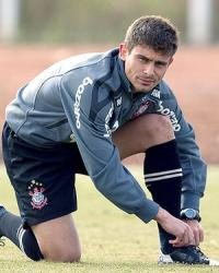 Alex no treino do Corinthians