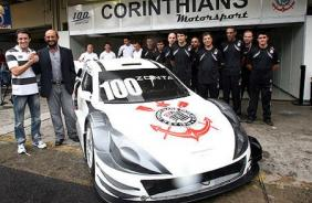 Carro do Corinthians na Stock Car