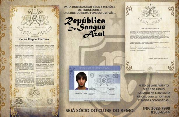 Material do Remo replica a campanha da República Popular do Corinthians