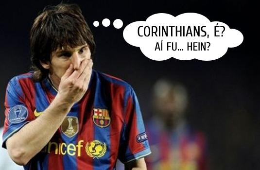 Messi morre de medo do Tim�o!!