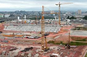 Obras do estádio do Corinthians
