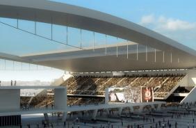 Vista do Tel�o do novo est�dio do Corinthians