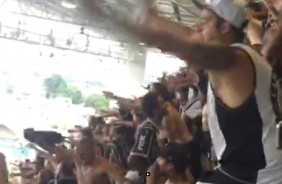 Festa da torcida do Corinthians no est�dio Independ�ncia